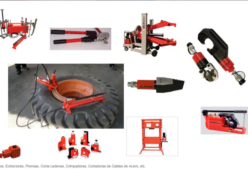 Gatos y otras herramientas hidráulicas